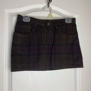 H&M Divided Plaid Skirt